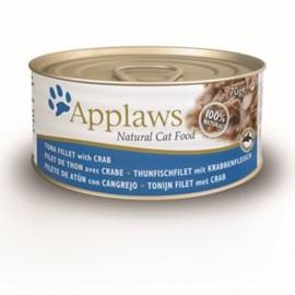 Applaws Blik Cat Tuna & Crab 24 x 70 gr