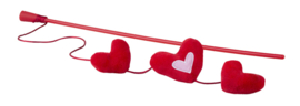 Rogz Catnip Hearts Magic Stick Red
