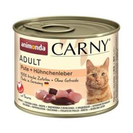 Carny Kalkoen/Kippenlever  6 x 200 gr