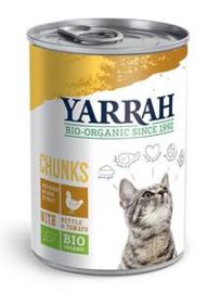 Yarrah Kat Blik Brokjes Kip in Saus - 405 gr. (12 verp.)