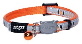 Rogz NightCat Orange Birds On Wire - 8mm - 16,5-23
