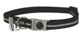 Rogz AlleyCat Halsband Small Black  11mm - 16,5-23cm