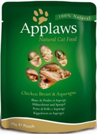 Applaws Cat Pouch Chicken & Aspergus - 70 gr. (12 verp.)
