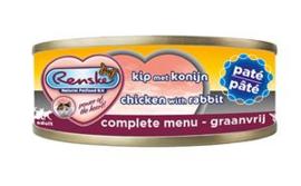 Renske Kat Blik Paté Kip met Konijn 24 x 70 gr
