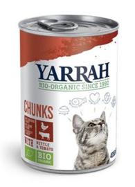 Yarrah Kat Blik Brokjes Kip/Rund in saus - 405 gr. (12 verp.)