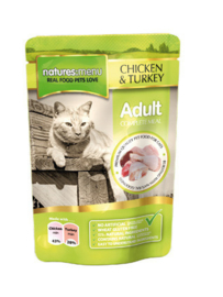 Natures Menu Cat Pouch Chicken & Turkey -  12x 100 gr