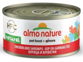 Almo Nature Kip met Garnaal - 70 gr. (24 verp.)