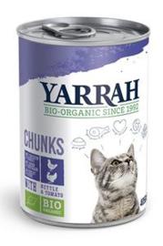 Yarrah Kat Blik Brokjes Kip/Kalkoen in Saus - 405 gr. (12 verp.)