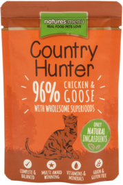 Natures Menu Cat Country Hunter Pouch Chicken & Goose   6x 85 gr