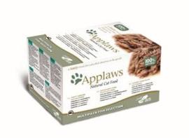 Applaws Cat Pots Multi Pack Fish 8x60 gr