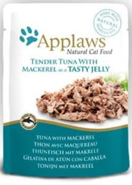 Applaws Cat Pouch Tuna/Mackerel in jelly - 70 gr. (16 verp.)