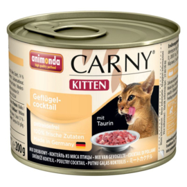 Animonda Carny Kitten Kattenvoer   Gevogelte mix  6 x 200 gr