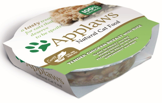 Applaws Cat Pots Chicken & Rice 10 x 60 gr