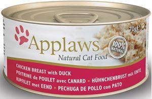 Applaws blik cat Chicken & Duck - 70 gr. (24 verp.)