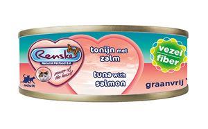 Renske Kat Blik Tonijn met Zalm - 70 gr. (24 verp.)