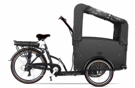 Troy driewiel E- bakfiets mat zwart/ zwart