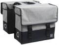 WILLEX dubbele canvas tas plus 57L grijs/ mat zwart