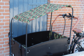 Combi-deal kussens 3 cm + zonneluifel Camouflage/ leger print Troy/ Supreme