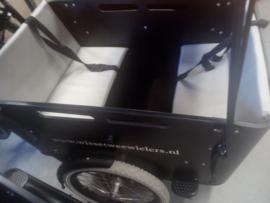 Kussenset Vogue Carry 3 wiel grijs leer 3cm