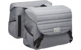 NEW LOOXS Dubbele Fietstas Mondi Joy Double - Quilted Grey -