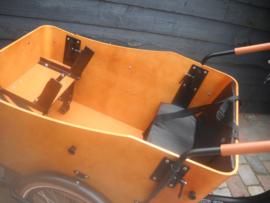 Vogue Cargo 3-wiel bakfiets kussenset 'leer' zwart