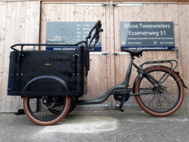 KeeWee Luxe E-bakfiets army groen