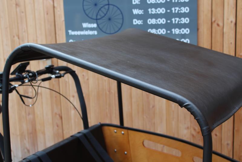 Combi-deal kussens 3 cm + zonneluifel zwart leer Superior