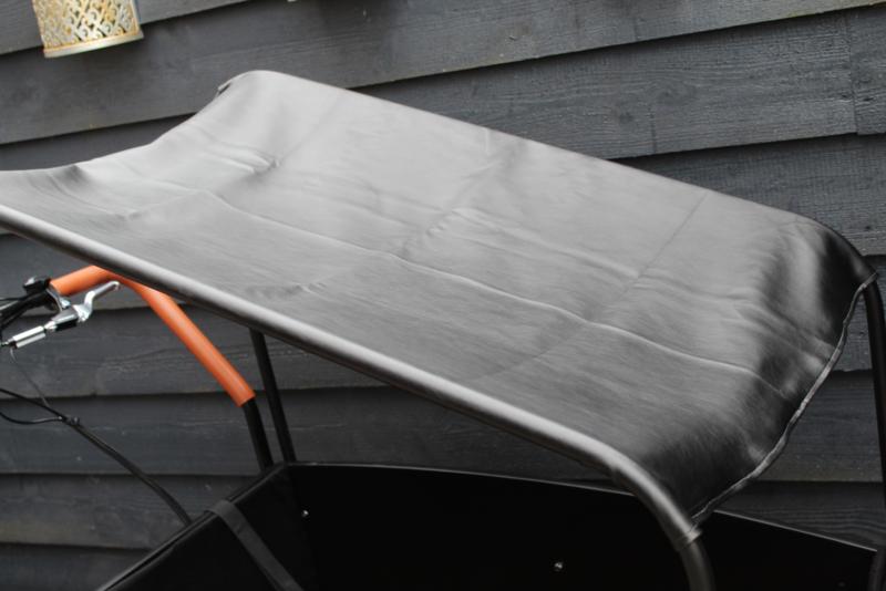 Combi-deal kussens 3 cm + zonneluifel zwart leer Troy