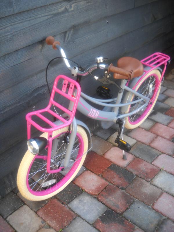 Popal Lola 18 inch grijs / pink