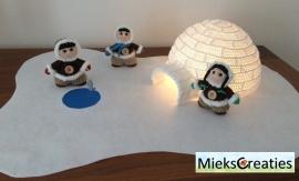 Haakpatroon de Iglo en Eskimo