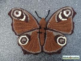 Crochetpattern Peacock Butterfly