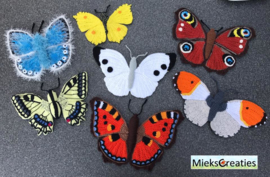 8 crochet patterns of the butterflies, actie