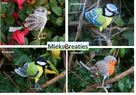 3 Birds crochetpatterns  for 10 euro