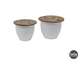 Brix storage coffee tables Amy, set van 2
