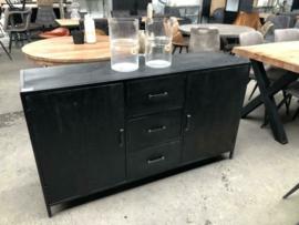 Nieuw dressoir stoer industrieel zwart