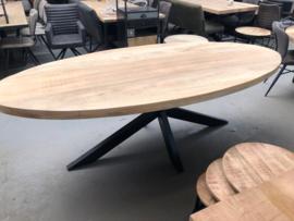 Eettafel ovaal mango hout 240 cm