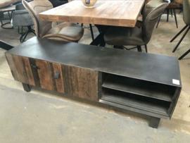Nieuw TV meubel Railway hout metaal