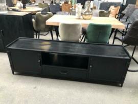 Nieuw: TV meubel zwart staal