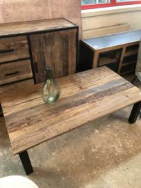 Nieuwe salontafel Railway hout metaal