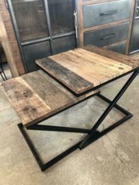 Nieuw: Set van 2 vierkante salontafels