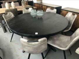 Eettafel Industrieel Kala zwart hout - 140