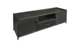 TV meubel 150 zwart staal