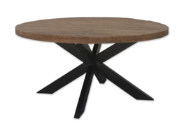 Eettafel rond mango brown of naturel
