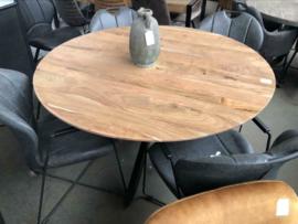 Ronde eettafel acacia hout 120