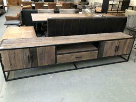 Nieuw: TV meubel XL riverwood/zwart staal