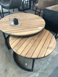 NIEUW: Set van 2 salontafels teak (ook voor buiten)