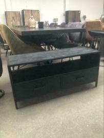 Nieuw: TV meubel zwart hout industrieel