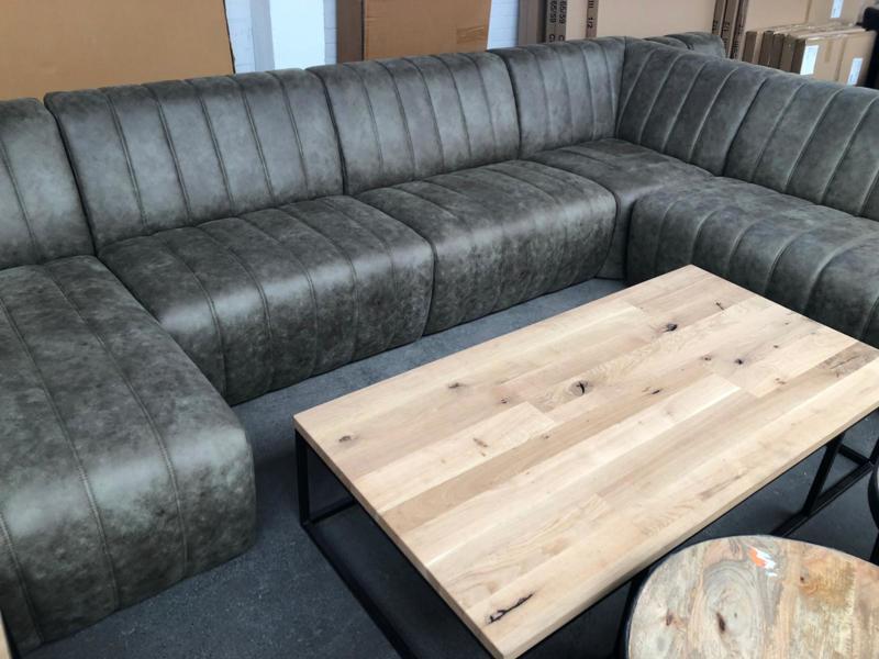 Grote Lounge Hoekbank.Grote Lounge Bank U Model Olive Green Banken Wk Home Nl