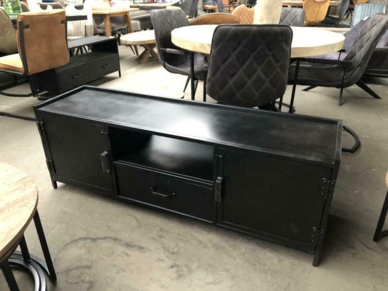 Nieuw TV meubel 150 industrieel zwart