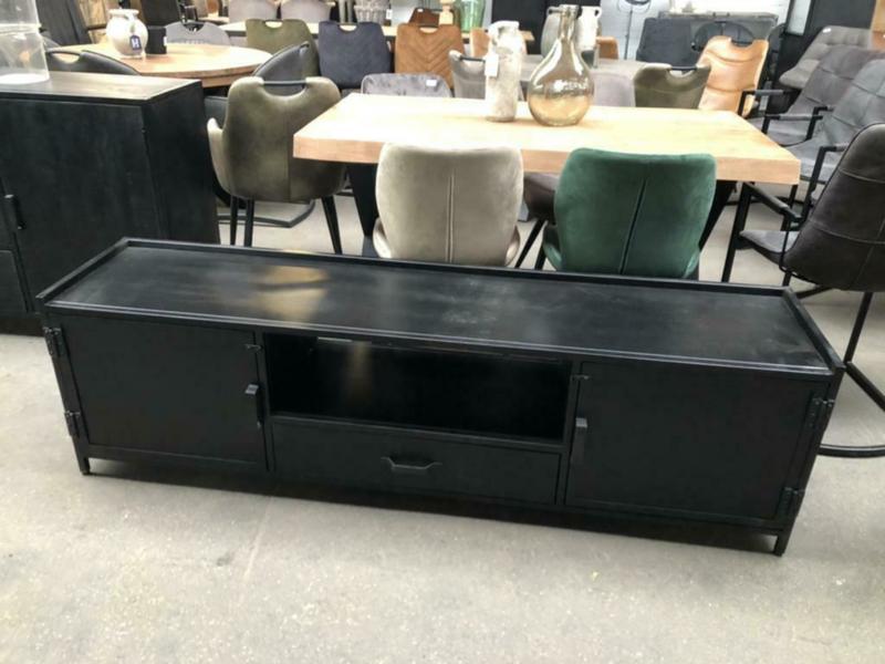 Nieuw: TV meubel 180 zwart staal